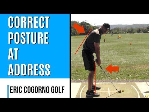 GOLF: Correct Posture At Address