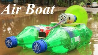 How to Make a Powerful Electric Boat - Airboat - Very Simple