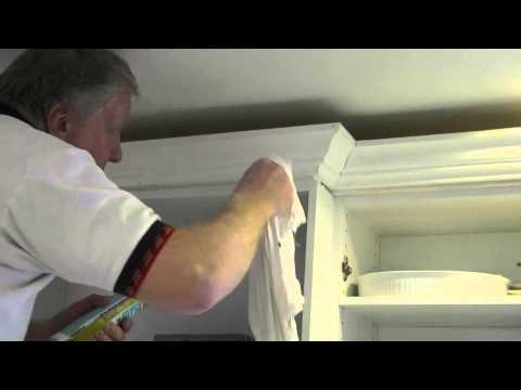 How To Prep & Paint Crown Molding On Kitchen Cabinets