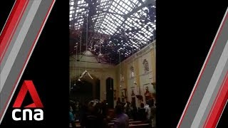Sri Lanka blasts: Damage, chaos after church attack