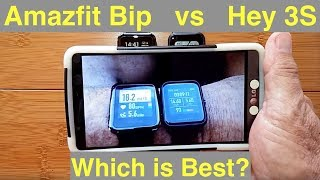 """Amazfit Bip vs Hey 3S """"Always On"""" COLOR Screen Fitness Smartwatches - Which should you buy?"""