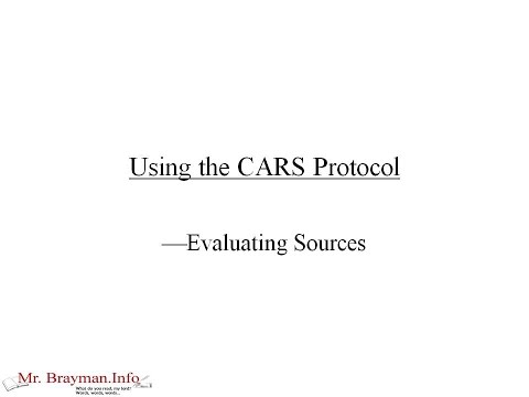 CARS Protocol (Research Paper Writing Strategy)