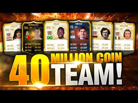 Fifa 15 Most Expensive 40+ Million Coin Squad Builder Ultimate Team Pele SIF Ronaldo