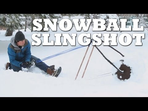 How to make a SNOWBALL SLINGSHOT