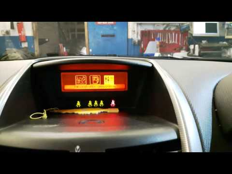 How to change from km/h to mph on a Peugeot 207