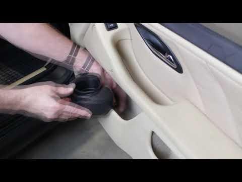 Installing & Using The BMW Door Pocket Cup Holder