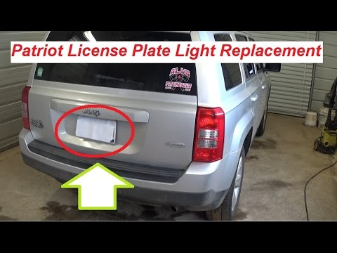 Jeep Patriot Tag Light / License Plate Light Replacement 2007 - 2015