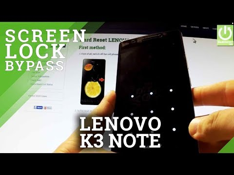 Hard Reset LENOVO K3 Note - Remove Password in Chinese Recvoery