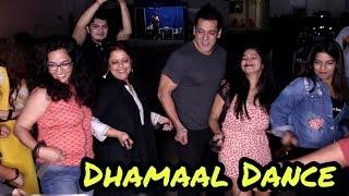 FULL ON DHAMAAL - Salman Khan Belt Dance Step With Media at Mehboob Studio   Dabangg 3