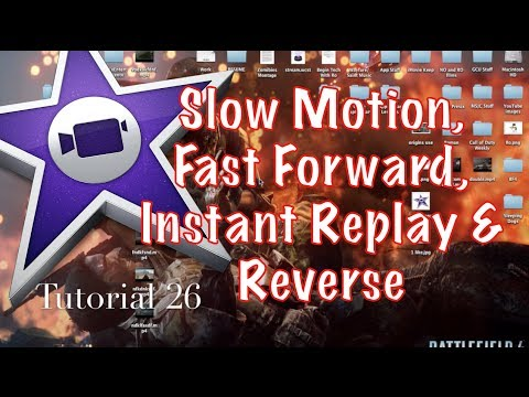Slow Motion, Fast Forward and Reverse Speed in iMovie 10.0.1 | Tutorial 26