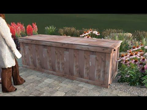 Rain Barrels vs. Rain Bench - How to build this 420 gal rainwater harvesting cedar bench.