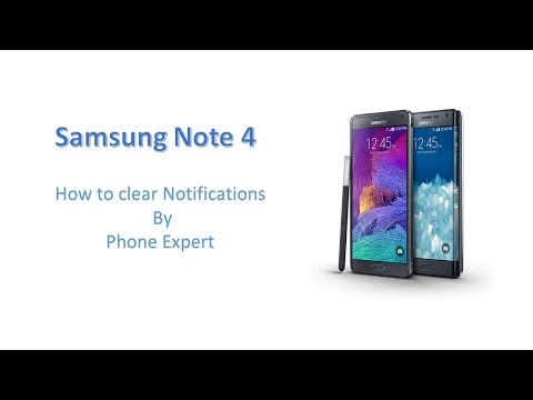 How to clear notifications on Samsung Note 4