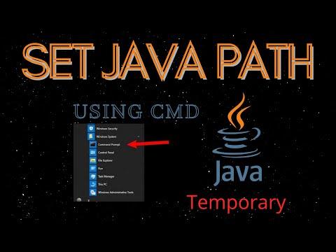 JAVA: How to set Java Path Temporary Using CMD