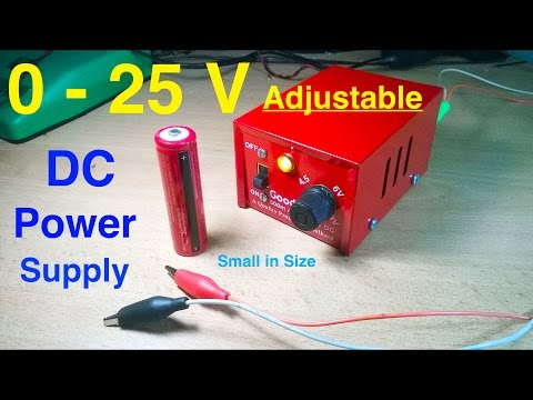 Make Adjustable DC power supply Easy Steps DIY