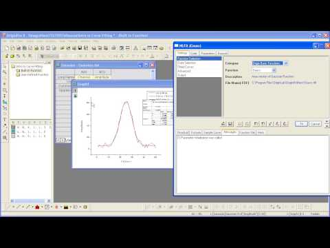 Curve Fitting: Origin 8: Introduction to Curve Fitting