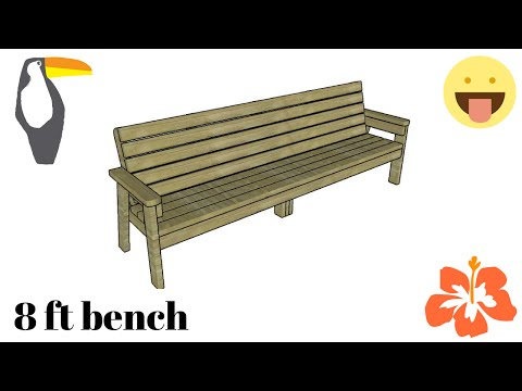 8 ft bench plans free