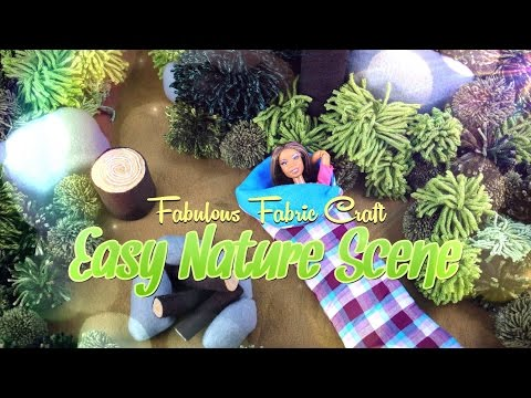 DIY - How to Make:  EASY Doll Nature Scene - Plush | Fabric |  4K Crafts