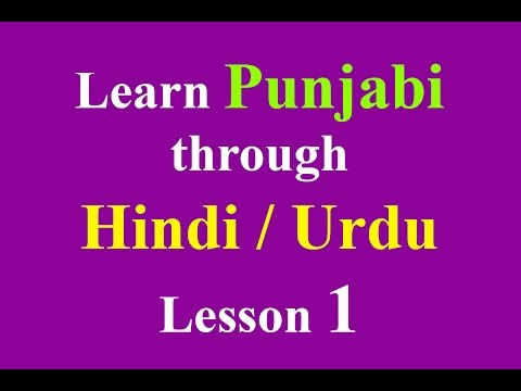 Learn Punjabi through Hindi lesson 1 (Greetings)