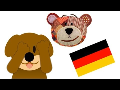 Riddle for Kids to Learn the Animals in German - Guess who is hiding