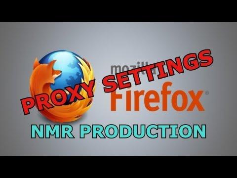 setting up mozilla firefox proxy settings