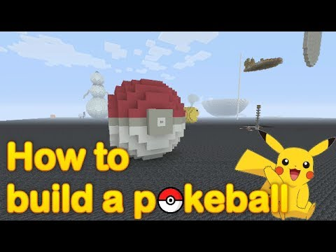 Minecraft - How to build a 3D Pokeball (quick and easy)