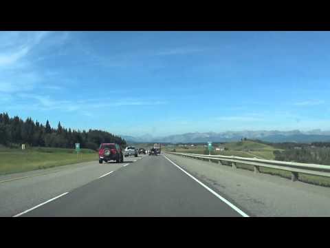 Video #1 Calgary to Banff (Trans-Canada Highway)