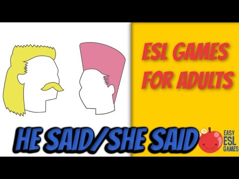 He said/She said (How to teach reported speech) - Easy ESL Games Video #19