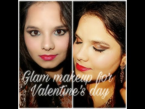 Glam makeup look for valentine's day | all about skin and makeup