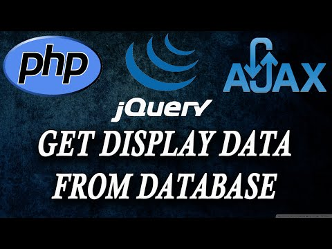 ajax jquery php getting and display data from database part 4