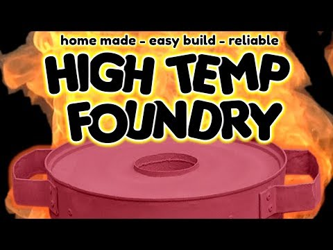 SIMPLE Homemade Metal Foundry for metal casting - by VegOilGuy