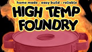 Download SIMPLE Homemade Metal Melting Furnace (Foundry) for metal casting - by VegOilGuy Video