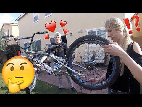BMX GIRLFRIEND BIKE BUILD CHALLENGE
