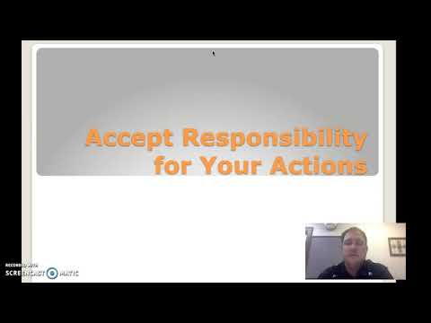 Accepting Responsibility for Your Actions