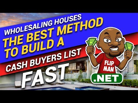 The Best Method to Build a Cash Buyer's List Fast | Wholesaling Houses Step by Step for Beginners