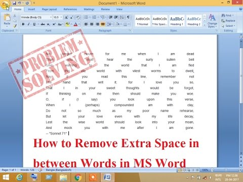 How to Remove Extra Space in between Words in MS Word By Abu Hanif