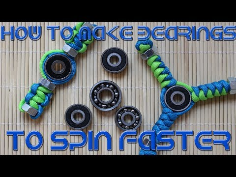 How to make bearings to spin faster and longer
