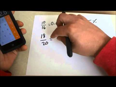 How To Convert A Test Score To A Percent-Fraction To Percentage