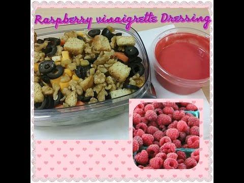 Homemade Raspberry Vinaigrette Dressing