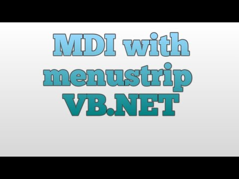 Creating mdi form in vb.net with menustrip in hindi