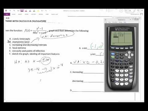 MAT220 finding vertical and horizontal asymptotes using calculator