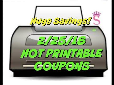 2/25/18 NEW PRINTABLE COUPONS ~ HUGE SAVINGS!