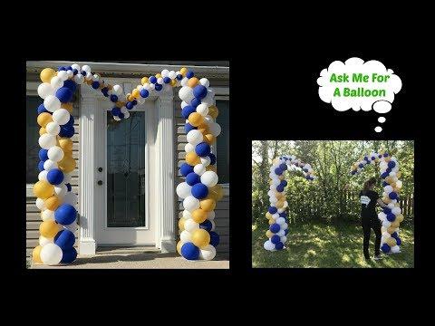 Organic Heart Balloon Arch Tutorial