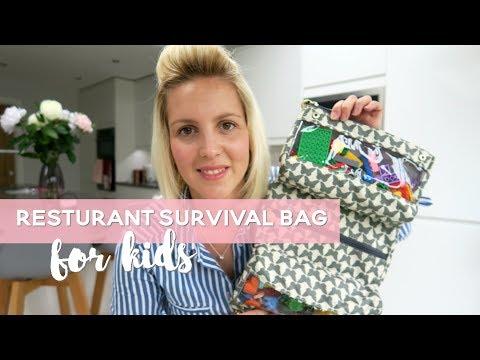 Kids Restaurant Survival Bag | Entertainment Bag for Kids