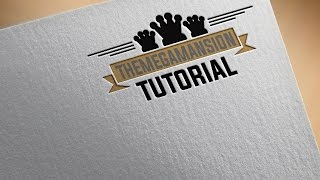 How to get a paper TEXTURE effect on logo in Photoshop CC/CS6