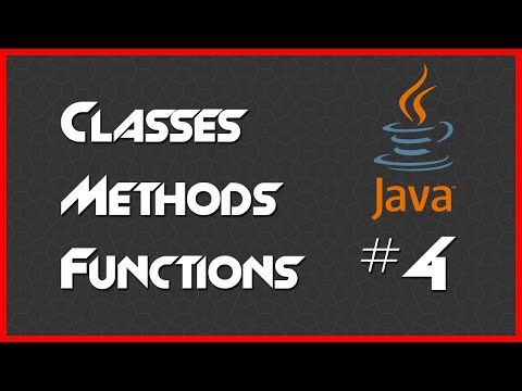 TUTORIAL: Classes, Methods, Functions [4] - Introduction to Java 8 Programming