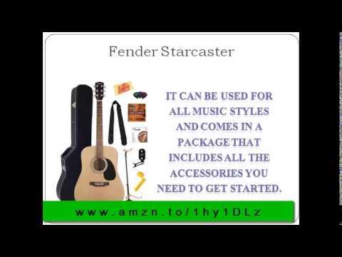 Fender Starcaster Review: Fender Squier Acoustic Guitar Starter Pack, Natural
