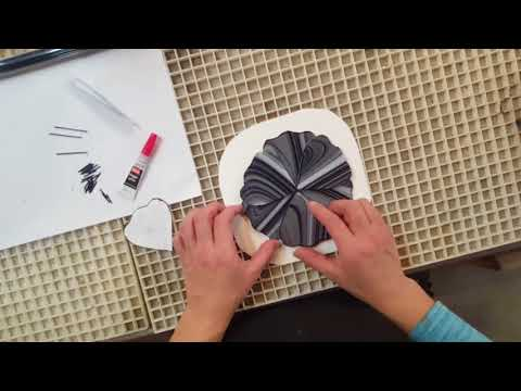 Easy Fused Glass Flower Stake demonstration