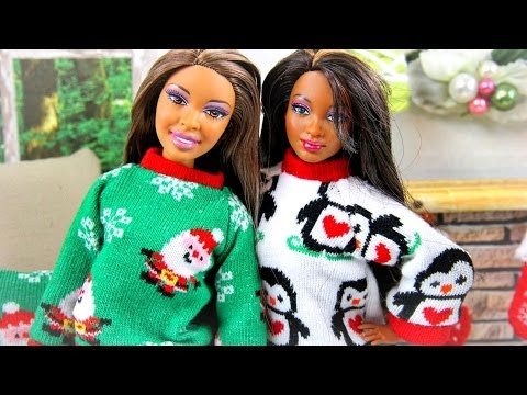 How to Make a Doll Ugly Christmas Sweater - Doll Crafts