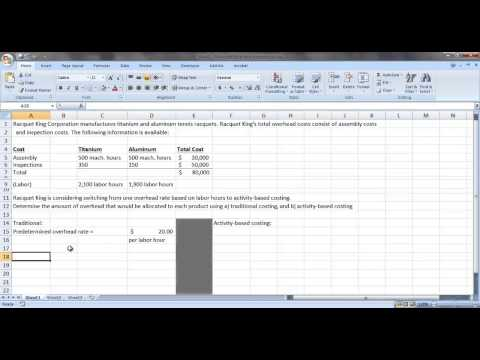 ACC 121 - Calculating activity rates and applying overhead to multiple products