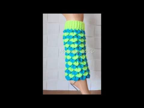 Crocodile Stitch Crochet Leg Warmers